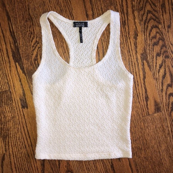 Nollie Tops - Women's PacSun Nollie crop tank. Cream. XS